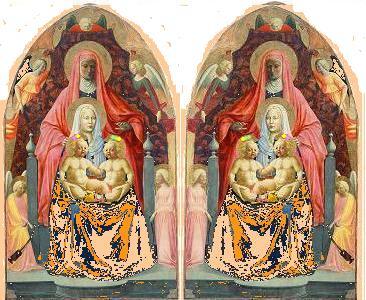 MadonnaszChildrenStAnne with girl&boy twinszMasaccio