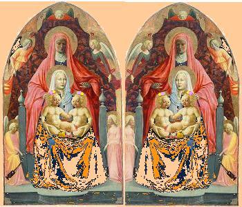 MadonnaszChildrenStAnne&Szizter with girl twinsz Masaccio