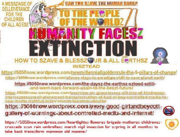 humanityfaceszextinctionhowtopreventnewmillenniallgoldenruletranszformation