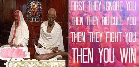 Kasturba&Mahatma~Gandhi IgnoreRidiculeFightYouWin