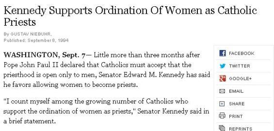 Ted ~Fitzgerald~Kennedy Ordain Women Priesztsz