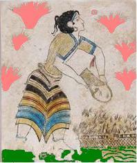 minoan woman szaffron