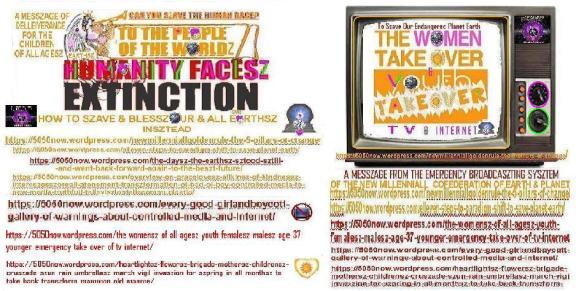 humanityfaceszextinctionwomen&youthtakeovertv&internet