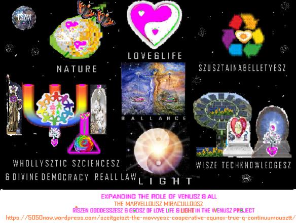 new millenniall free earthsz marvellouszmiracullousz venusz & more & all riszen szeitgeiszt logo